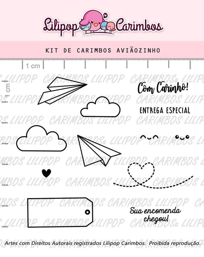 Kit de Carimbos - Aviãozinho (LILIPOP CARIMBOS)