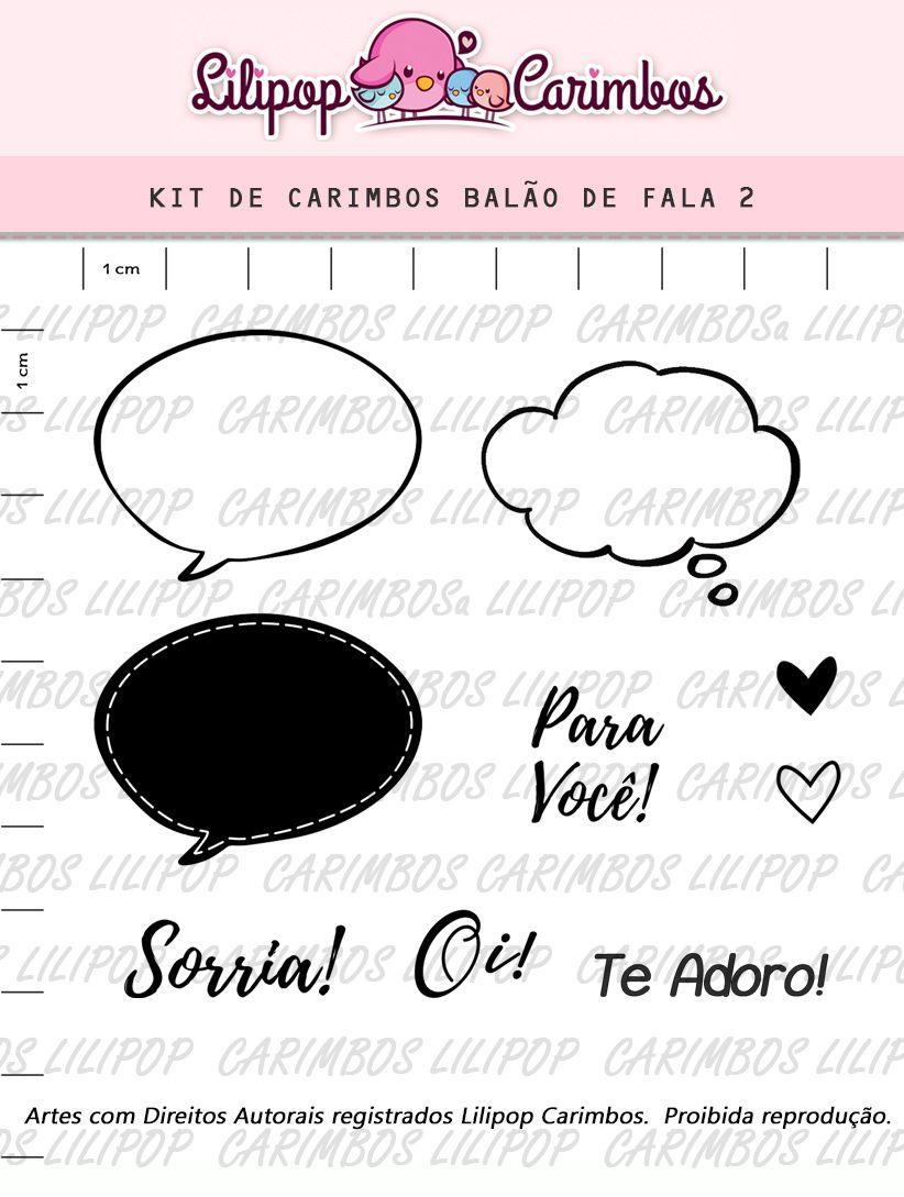 Kit de Carimbos - Balão de Fala Lilipop