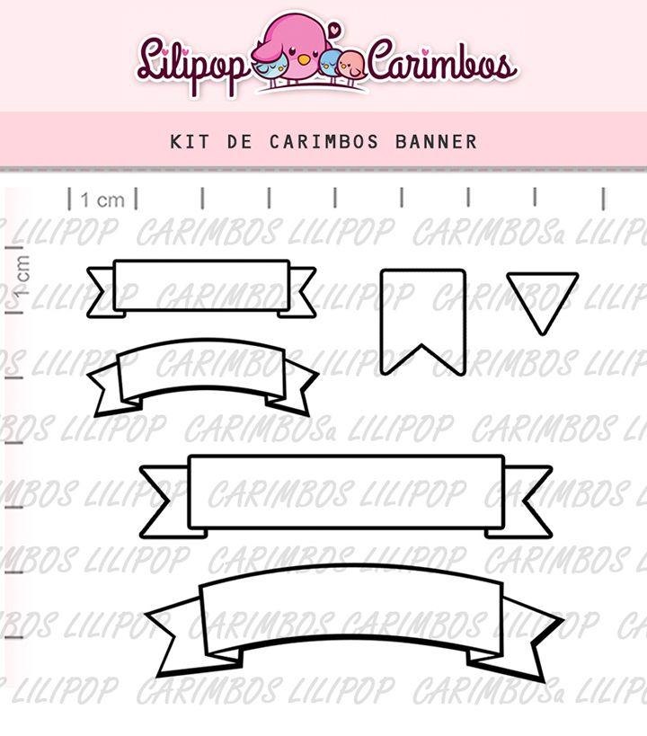 Kit de Carimbos - Banner (LILIPOP CARIMBOS)