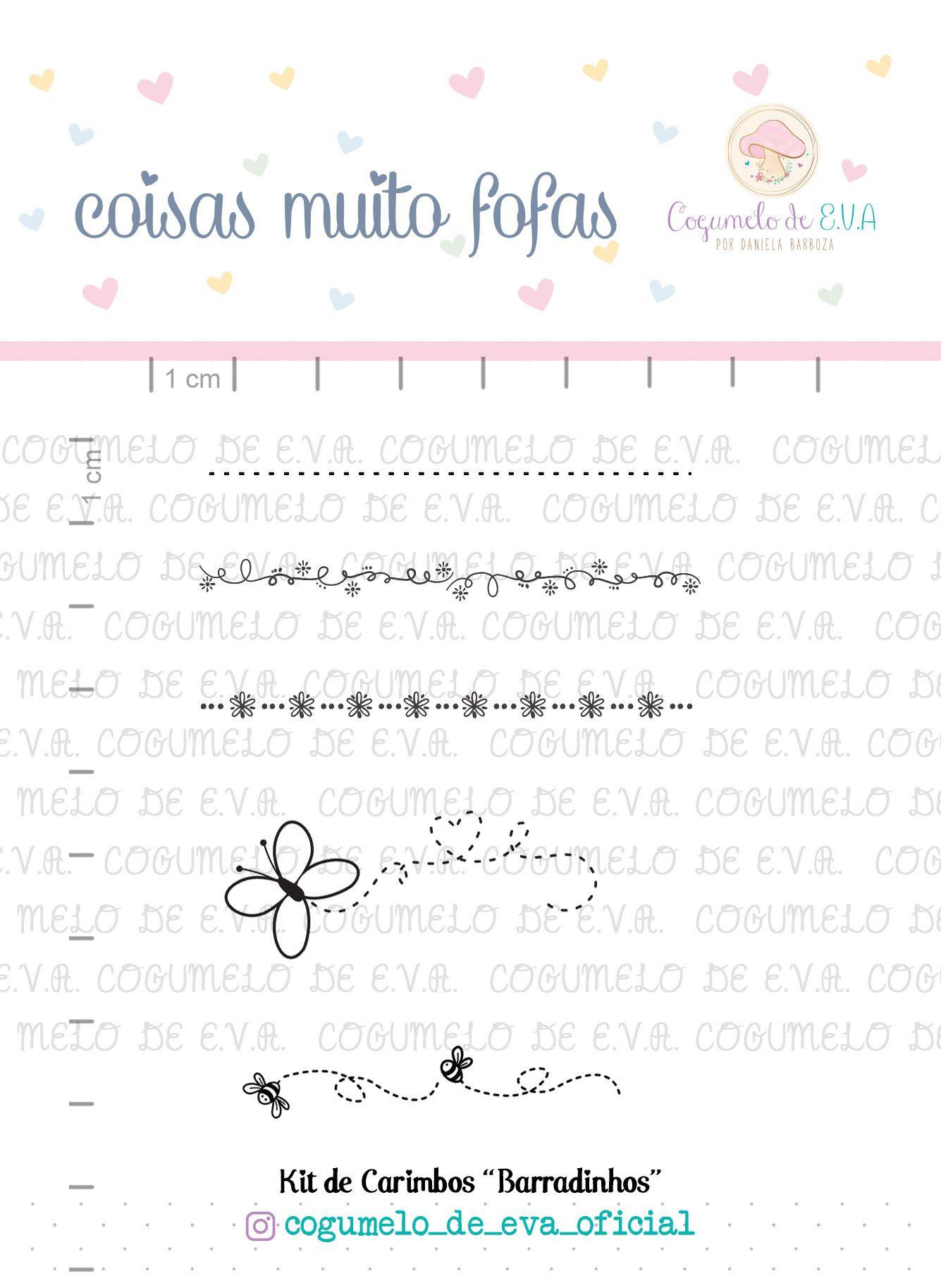 """Kit de Carimbos """"Barradinhos""""   Cogumelo de E.V.A."""