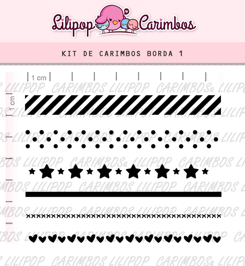 Kit de Carimbos - Borda 1