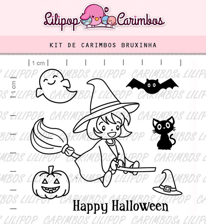 Kit de Carimbos - Bruxinha