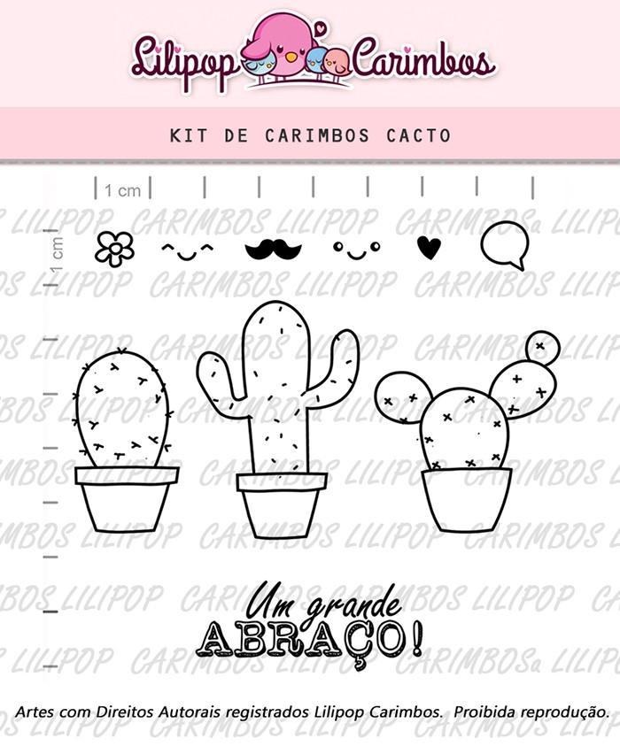 Kit de Carimbos - Cacto (LILIPOP CARIMBOS)