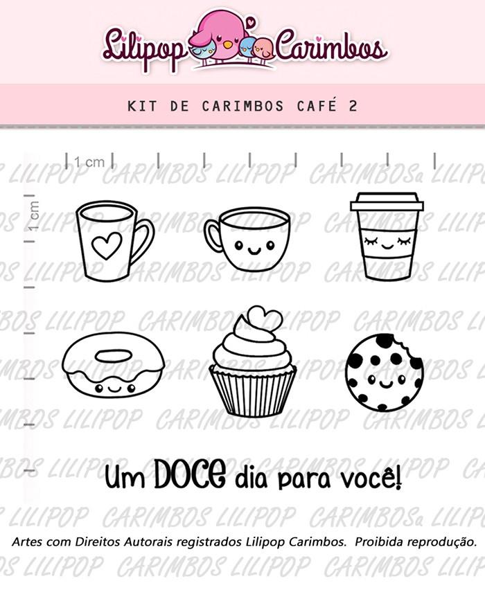 Kit de Carimbos - Café 2 (LILIPOP CARIMBOS)