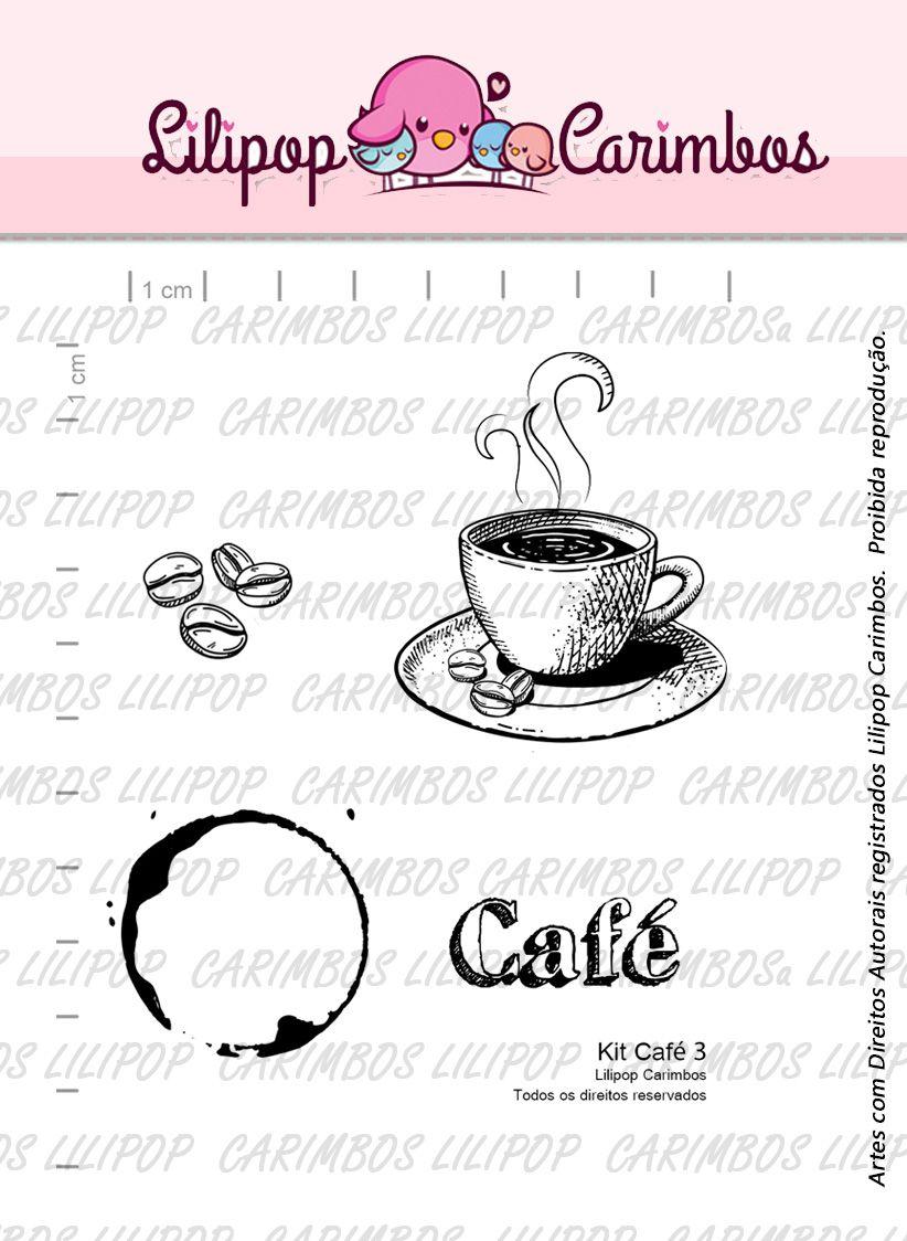 Kit  de Carimbos - Café 3  LILIPOP CARIMBOS