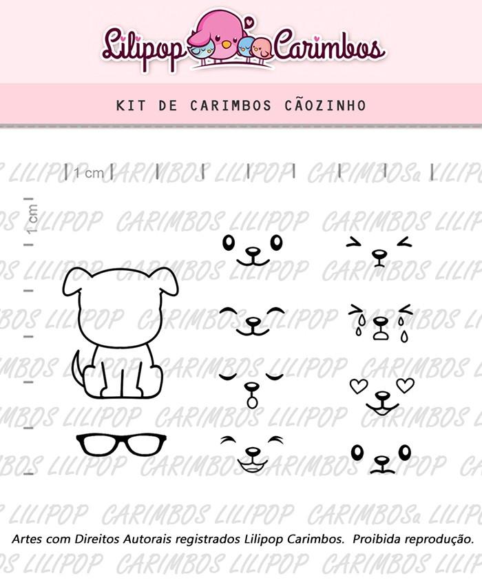 Kit de Carimbos - Cãozinho (LILIPOP CARIMBOS)