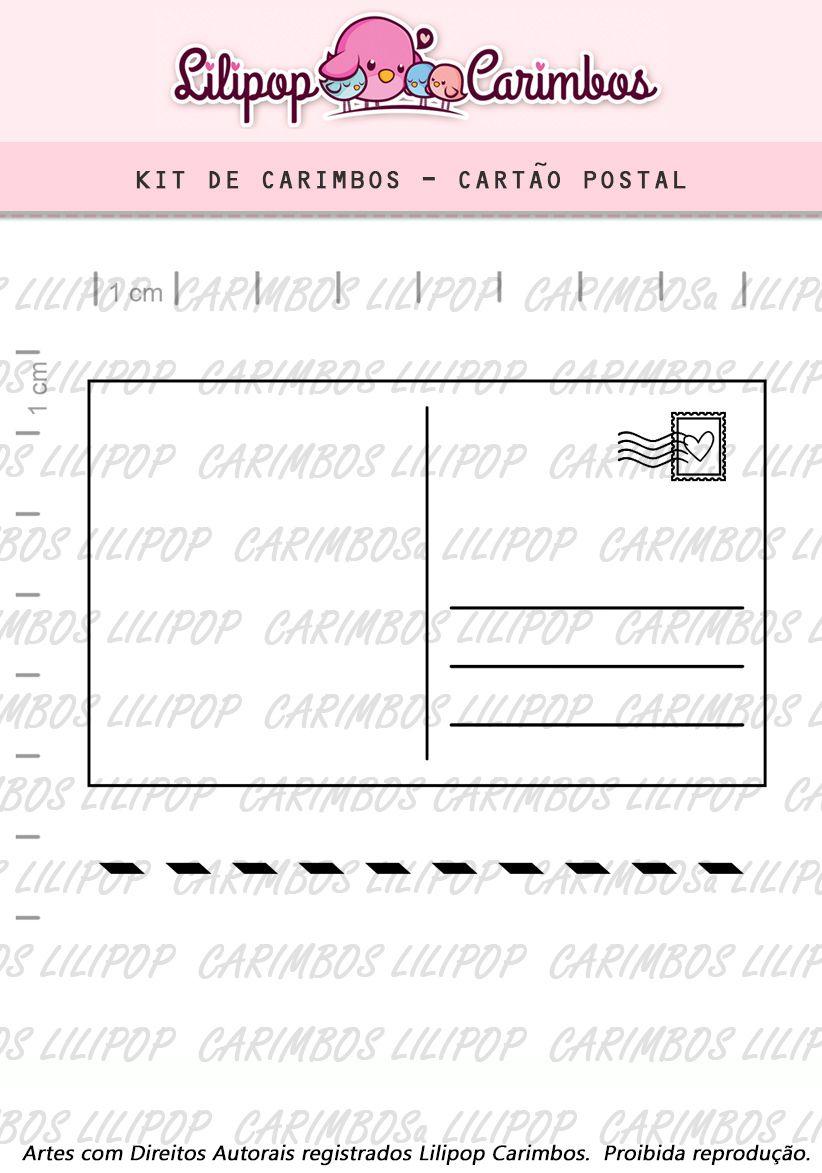 Kit  de Carimbos - Cartão Postal  LILIPOP CARIMBOS