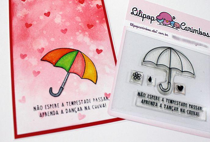 Kit de Carimbos - Chuva de Amor