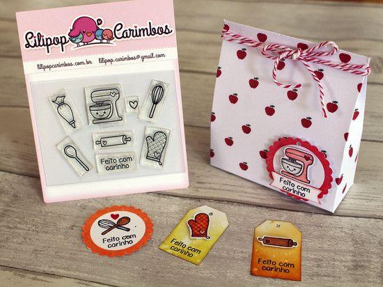 Kit de Carimbos - Confeitaria