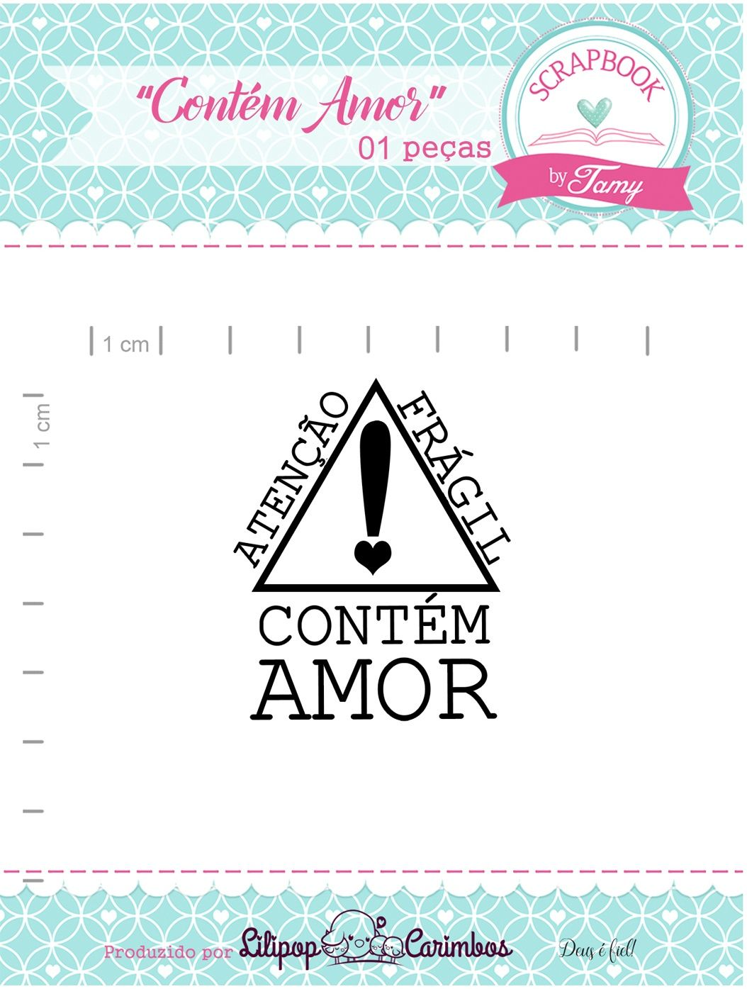 Kit de Carimbos - Contém Amor - Scrapbook by Tamy (OUTLET)