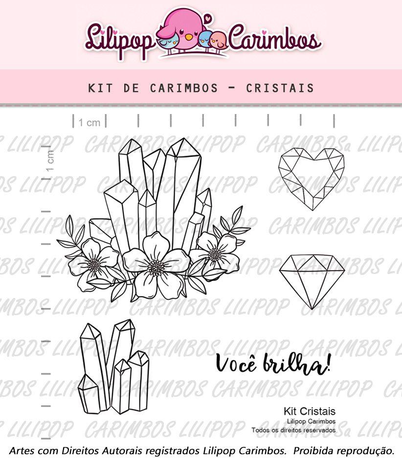 Kit  de Carimbos - Cristais  LILIPOP CARIMBOS