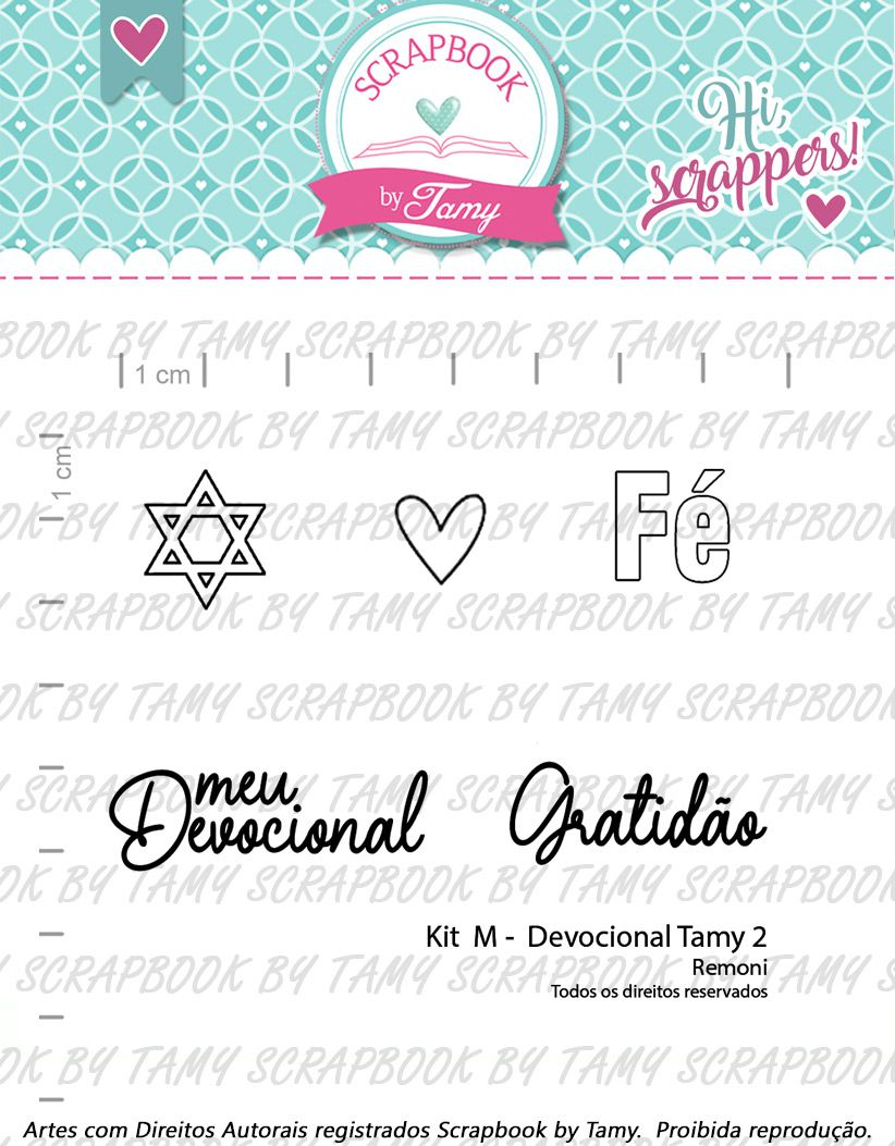 Kit de Carimbos - Devocional  Tamy 2 - Scrapbook by Tamy