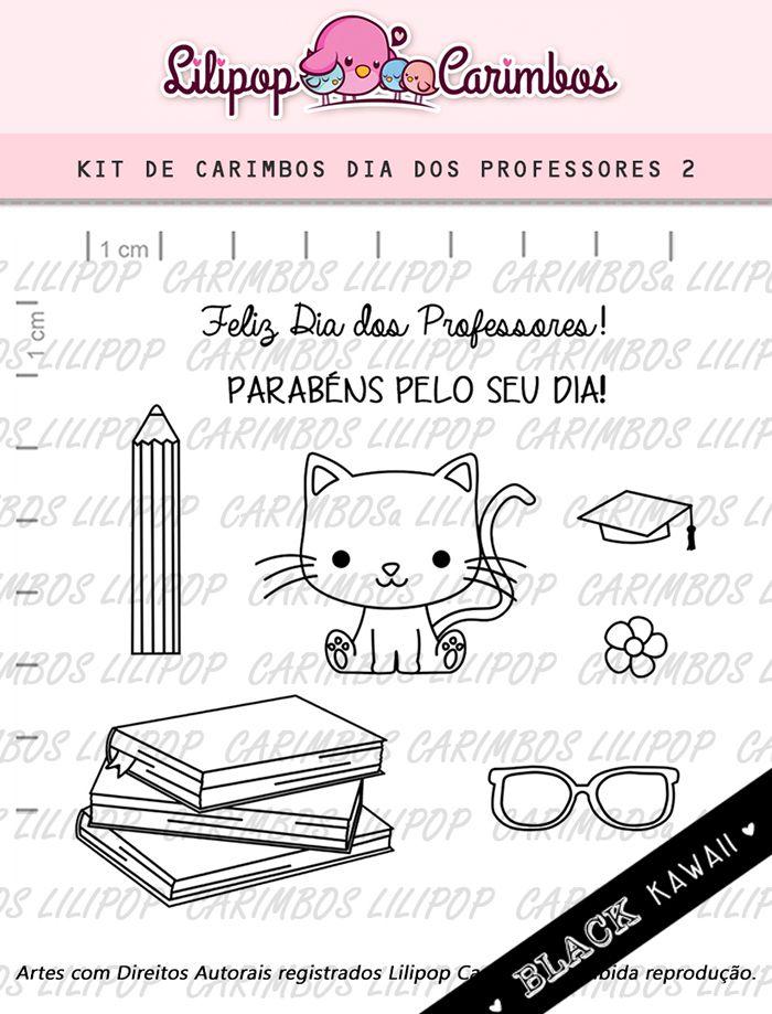 Kit de Carimbos - Dia dos Professores 2 (LILIPOP CARIMBOS)