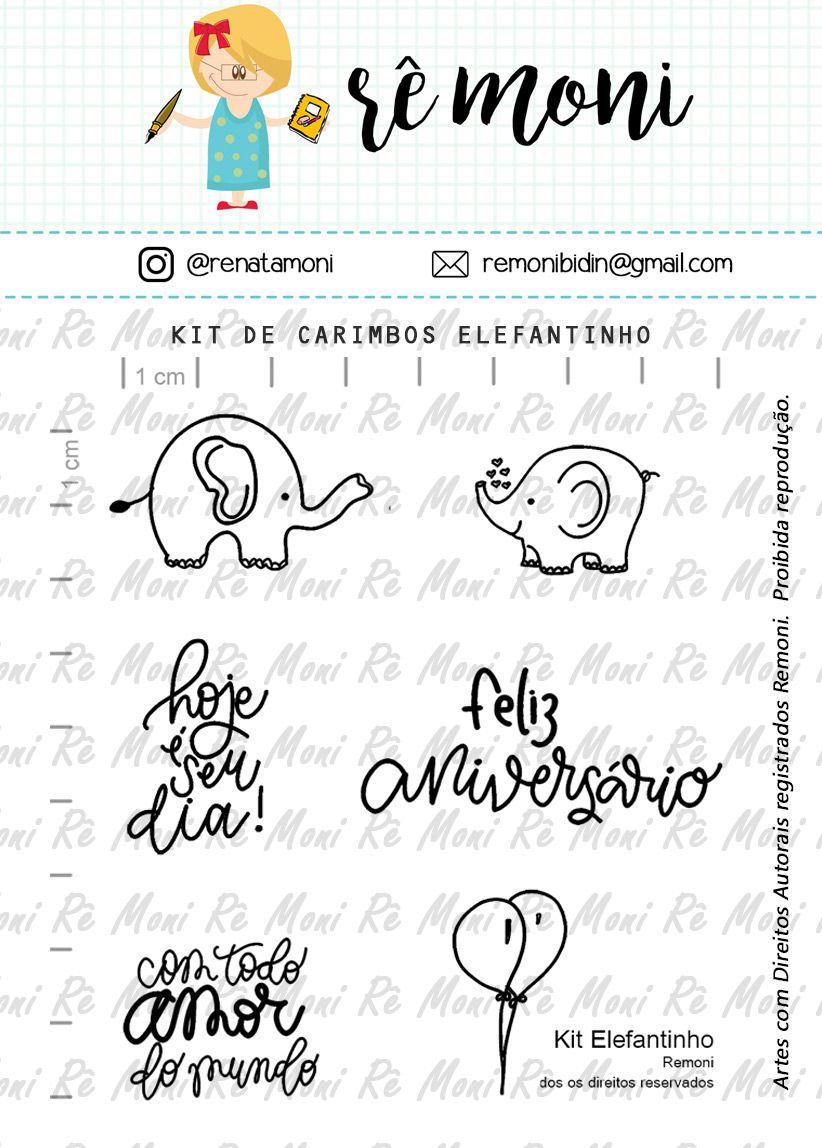 Kit de Carimbos - Elefantinho - Remoni