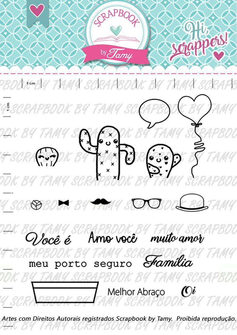Kit de Carimbos -  Família Cacto