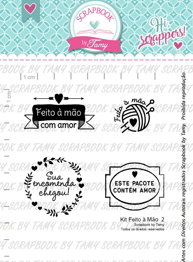 Kit de Carimbos Feito à Mão 2 -  Scrapbook by Tamy