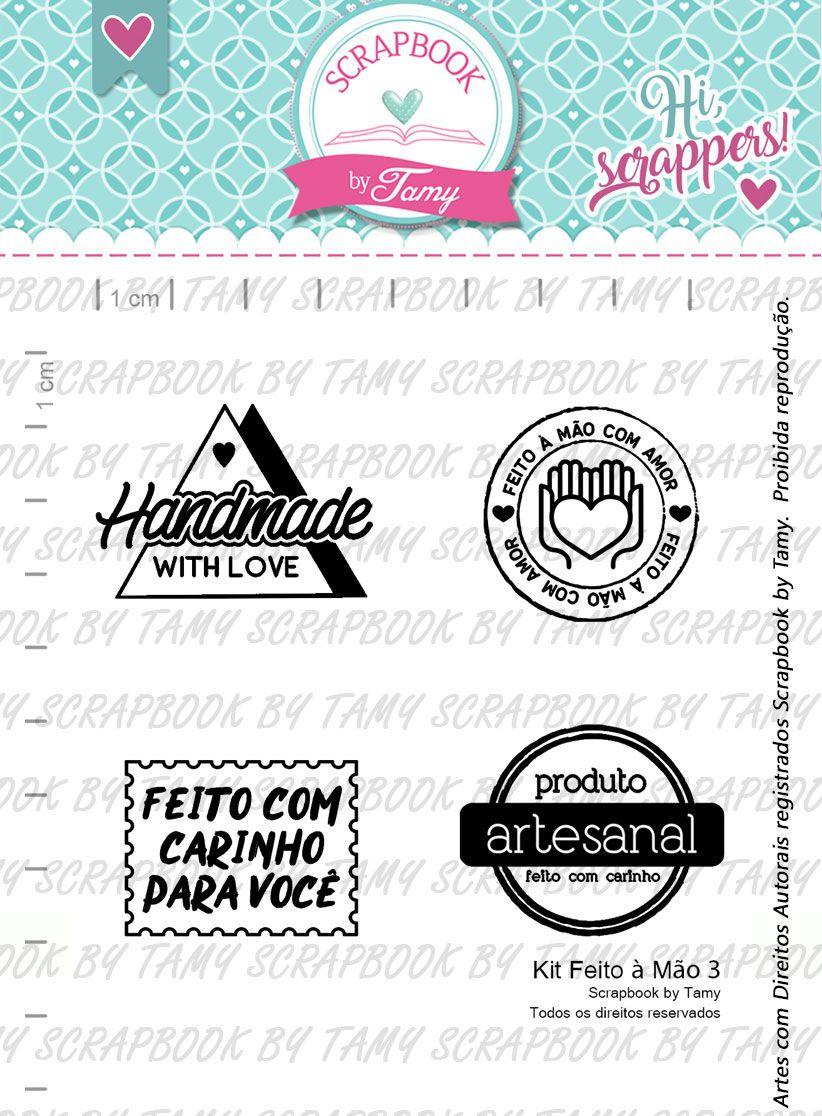 Kit de Carimbos Feito à Mão 3 -  Scrapbook by Tamy