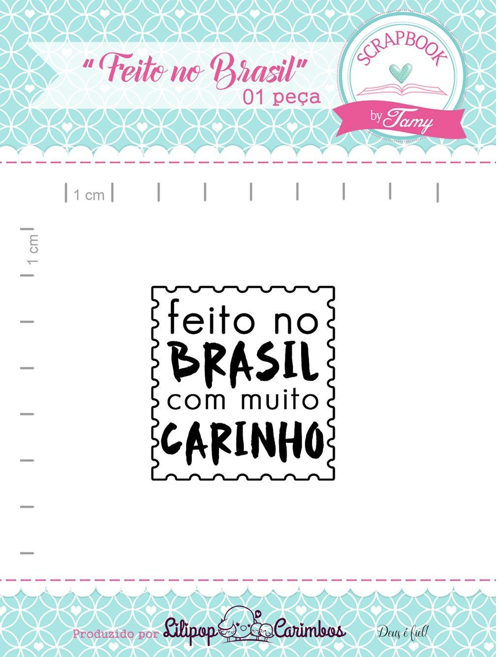 Kit de Carimbos - Feito no Brasil