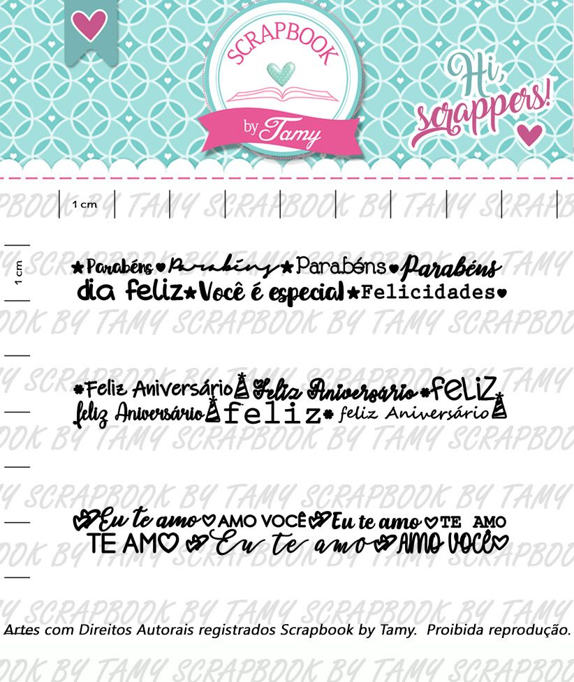 Kit de Carimbos - Felicidade 2 - Scrapbook by Tamy