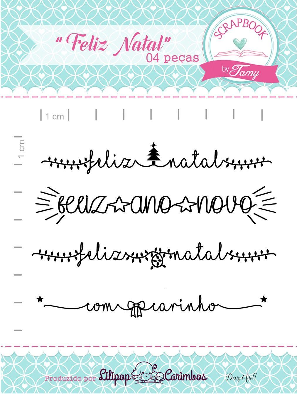 Kit de Carimbos - Feliz Natal - Scrapbook by Tamy
