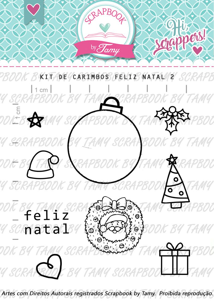 Kit de Carimbos - Feliz Natal 2 - Scrapbook by Tamy