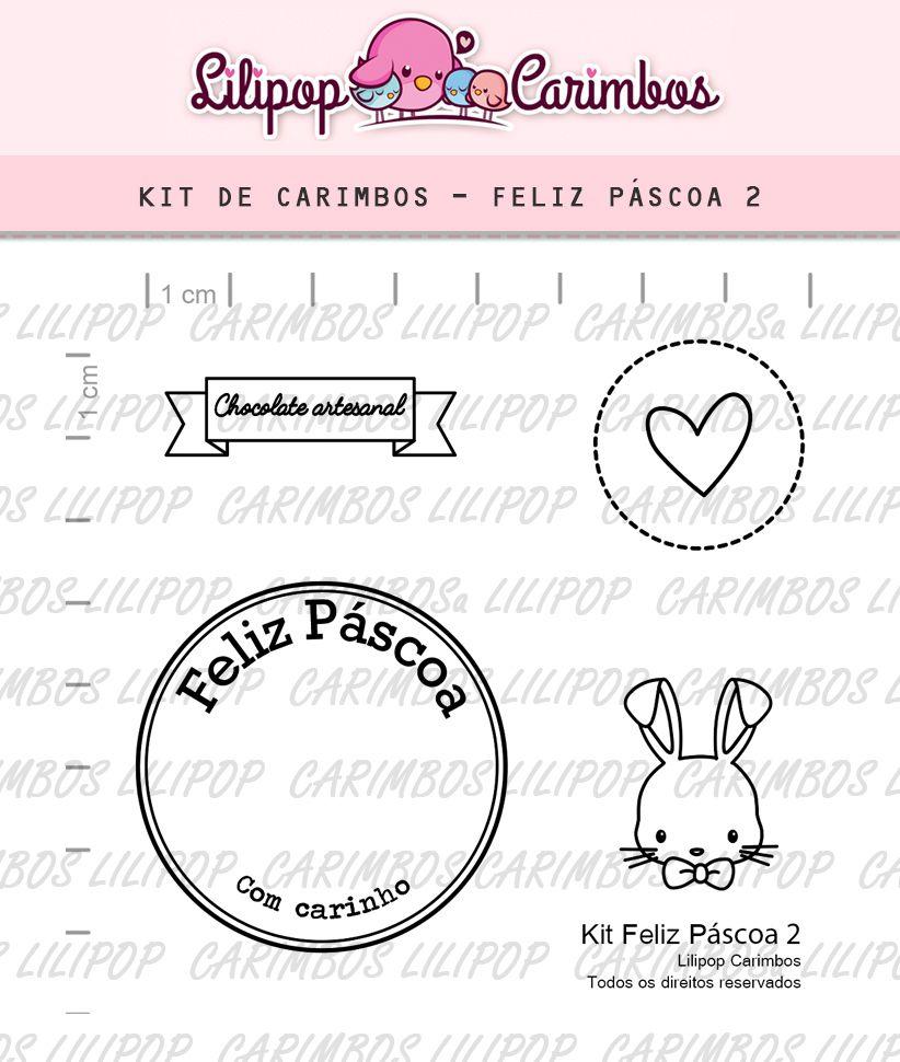 Kit  de Carimbos - Feliz Páscoa 2  LILIPOP CARIMBOS
