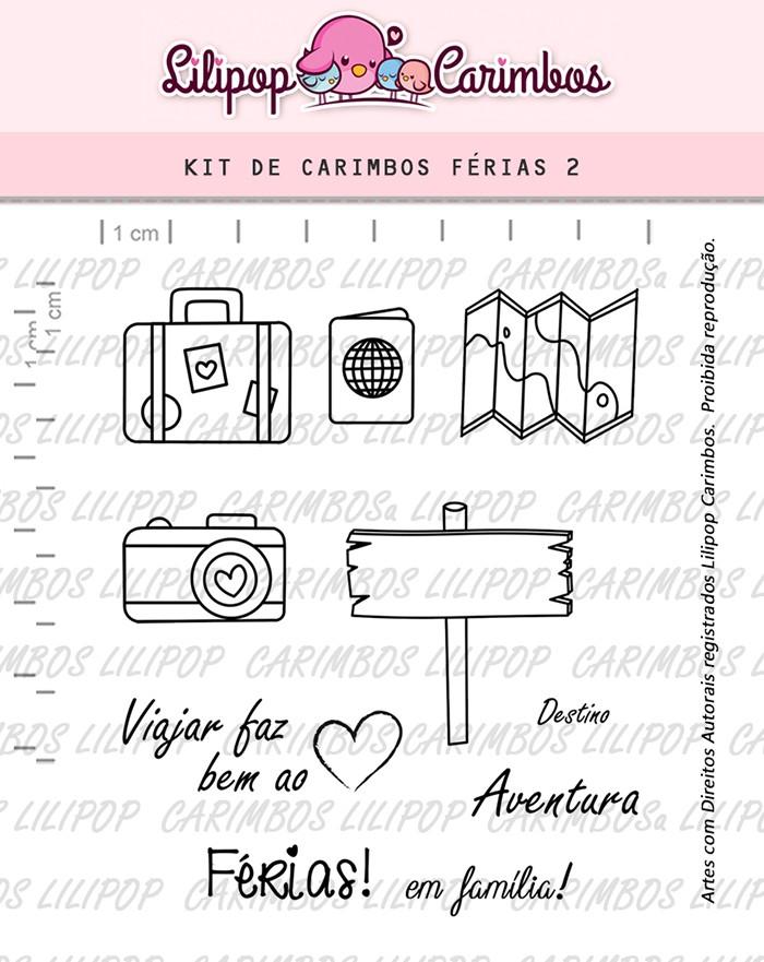 Kit de Carimbos - Férias 2