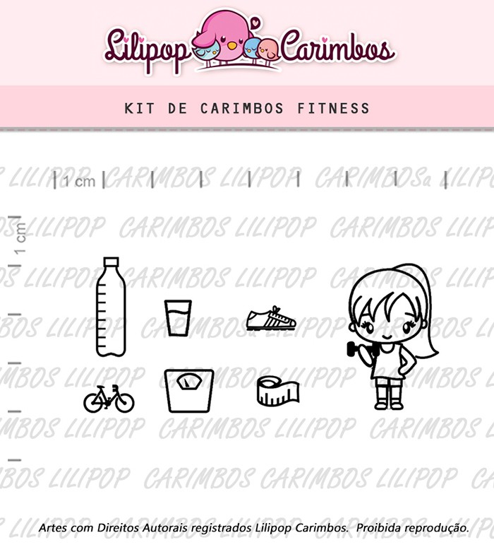Kit de Carimbos - Fitness