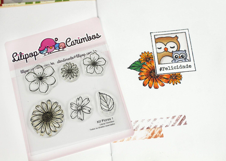 Kit  de Carimbos - Flores 1