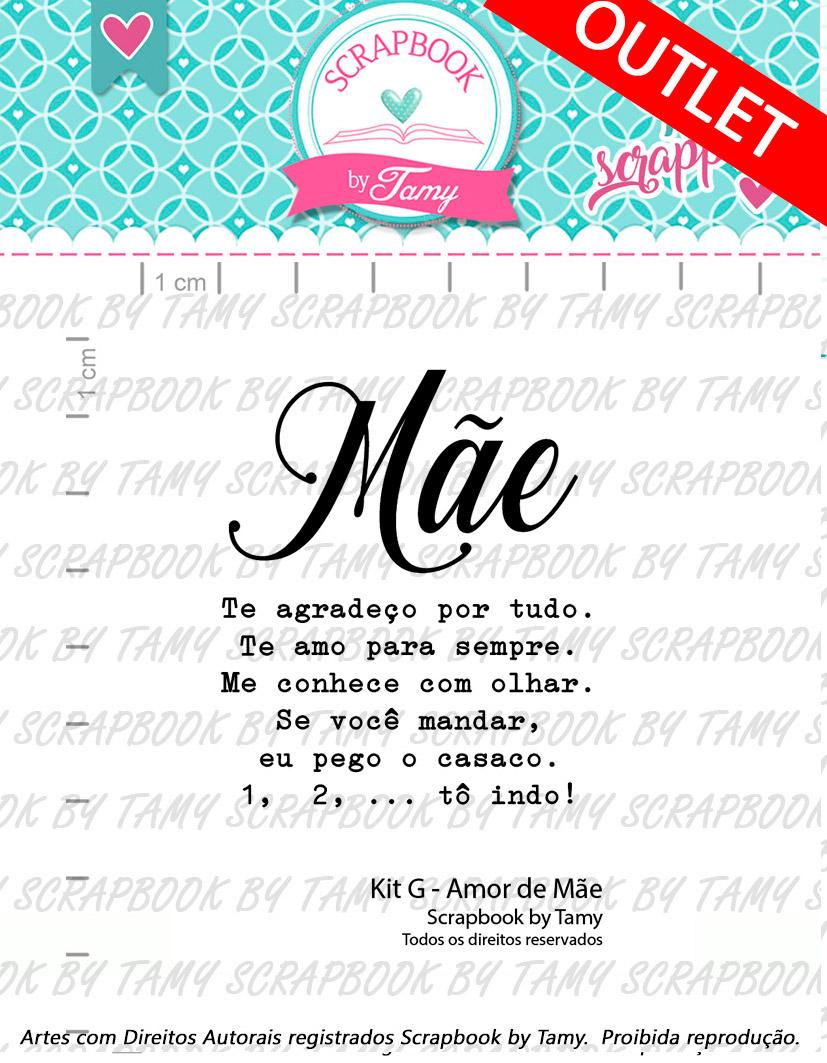 """Cartela de Carimbos G - """"Amor de Mãe"""" - Scrapbook by Tamy  - Lilipop carimbos"""