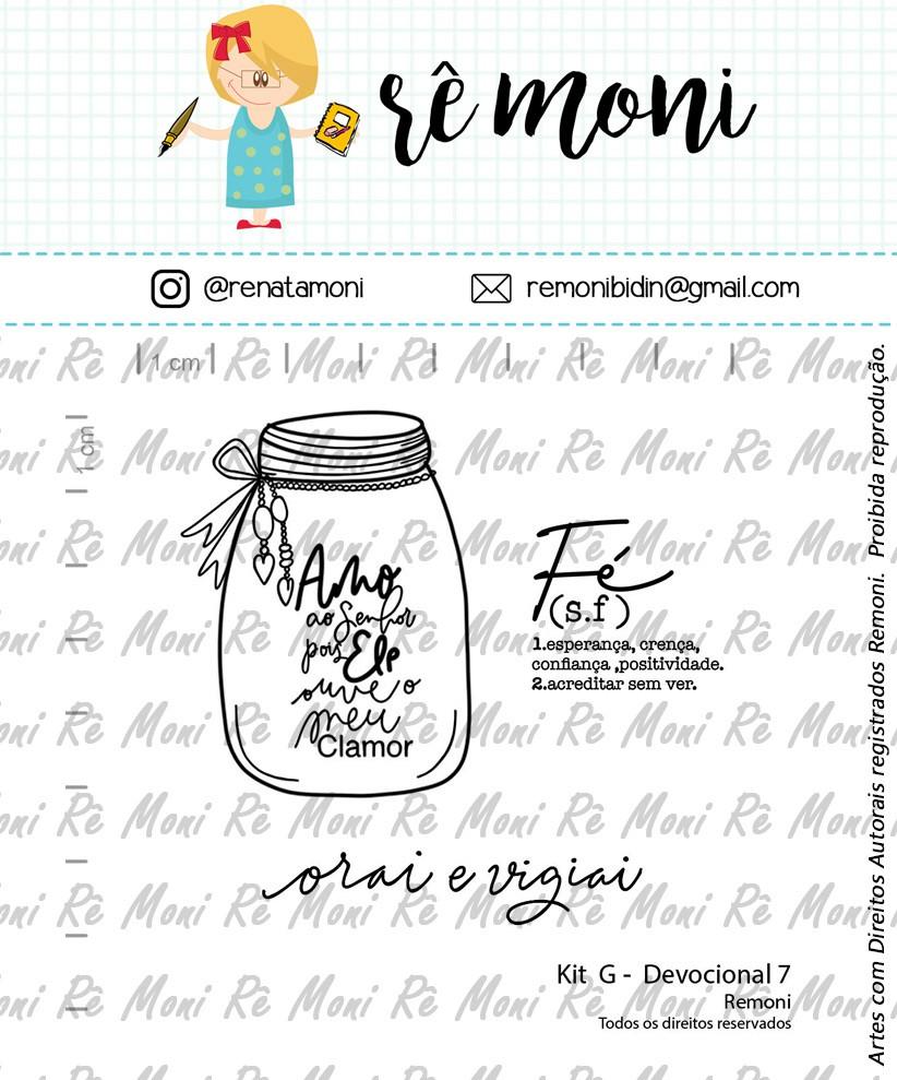Kit de Carimbos G - Devocional 7 - Remoni