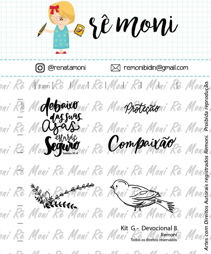Kit de Carimbos G - Devocional 8 - Remoni