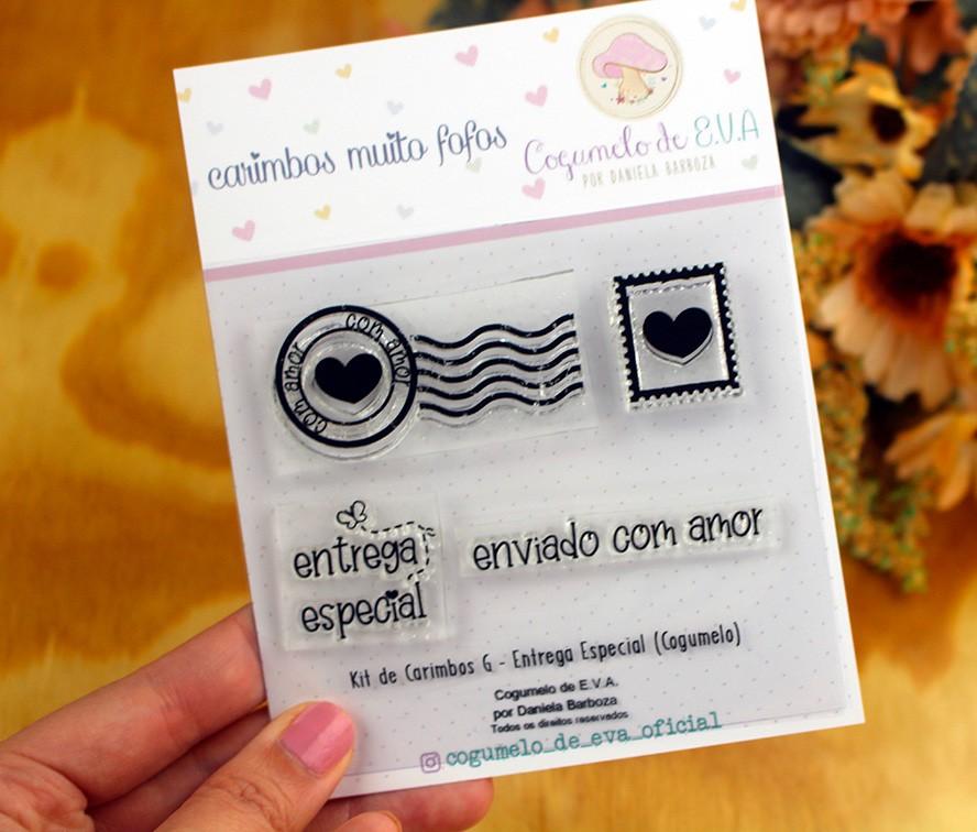 """Kit de Carimbos G - """"Entrega Especial""""   Cogumelo de E.V.A."""