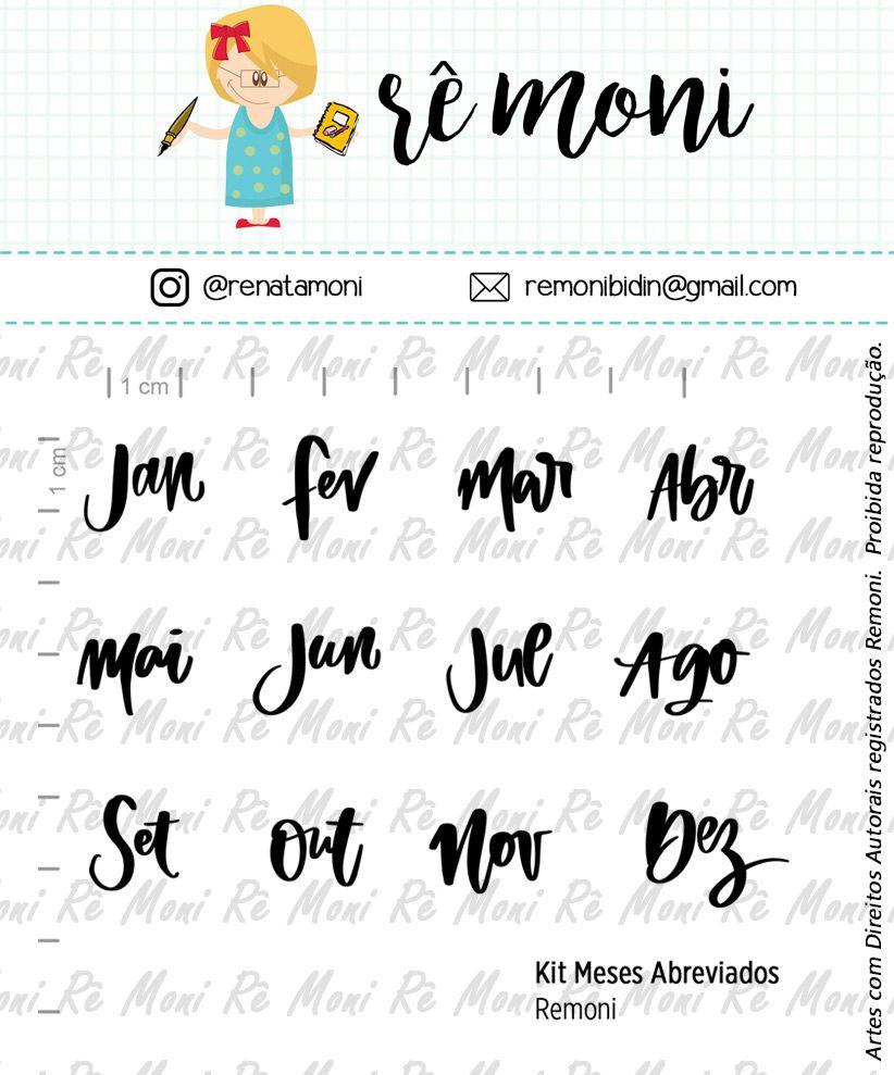 Kit de Carimbos G - Meses Abreviados - Remoni