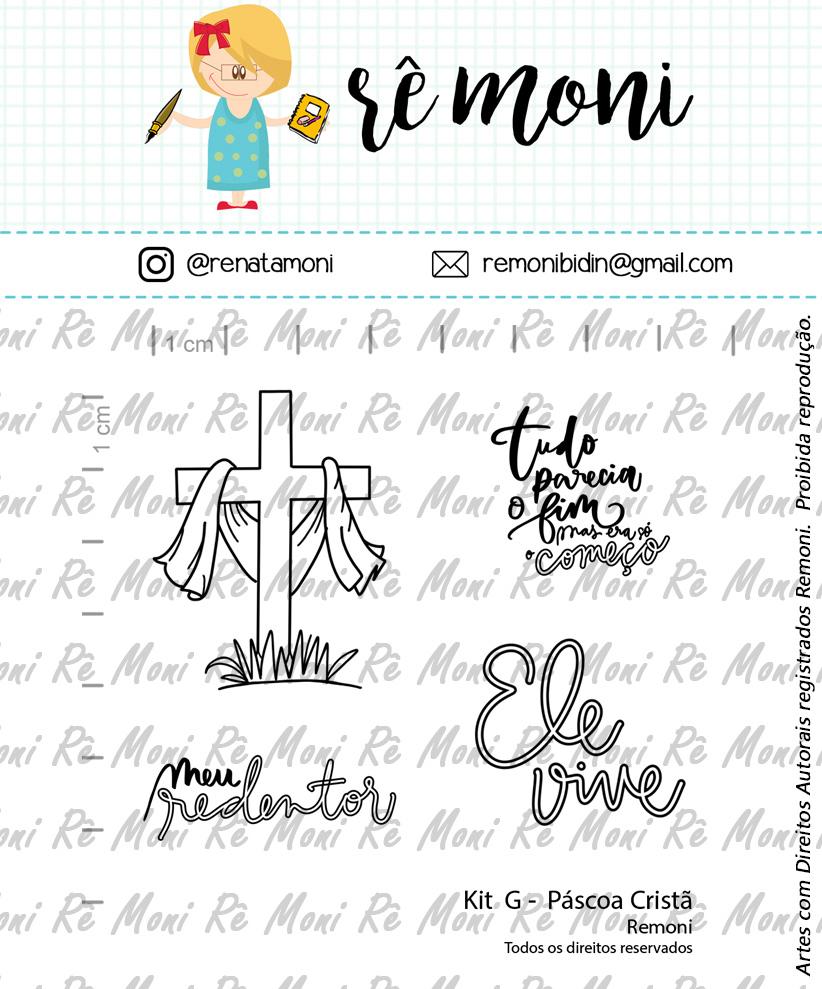 "Cartela de Carimbos G - ""Pascoa Cristã""  - Remoni   - Lilipop carimbos"