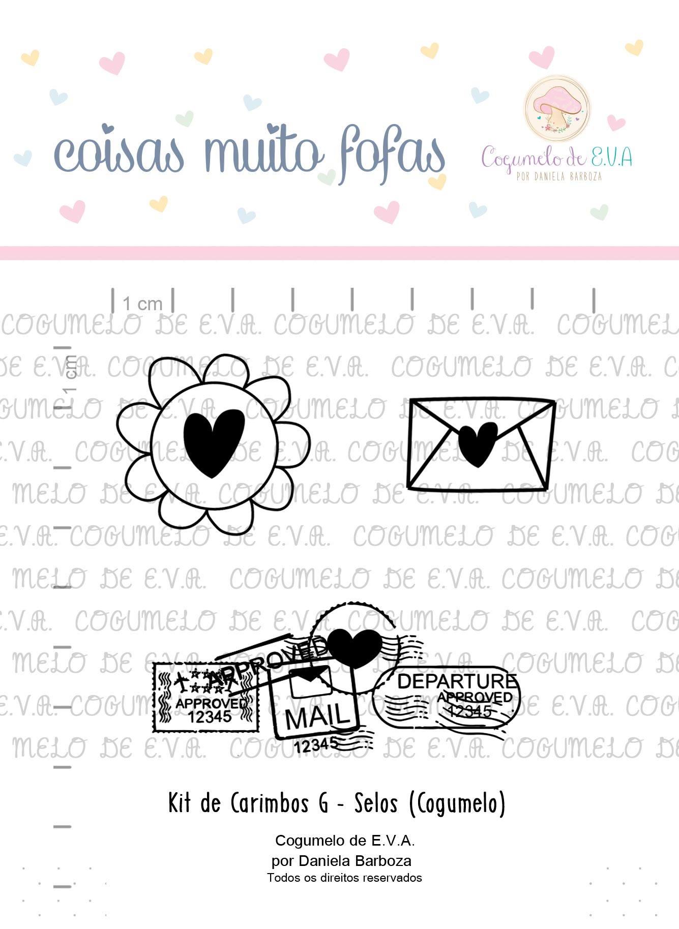 "Kit de Carimbos G - ""Selos""   Cogumelo de E.V.A."