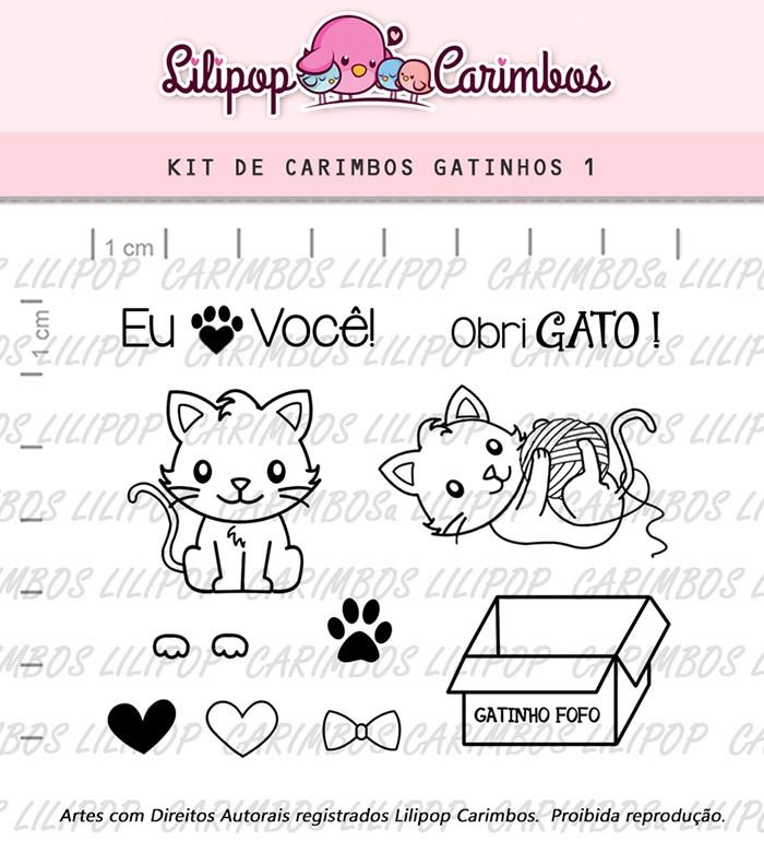 Kit de Carimbos - Gatinhos 1