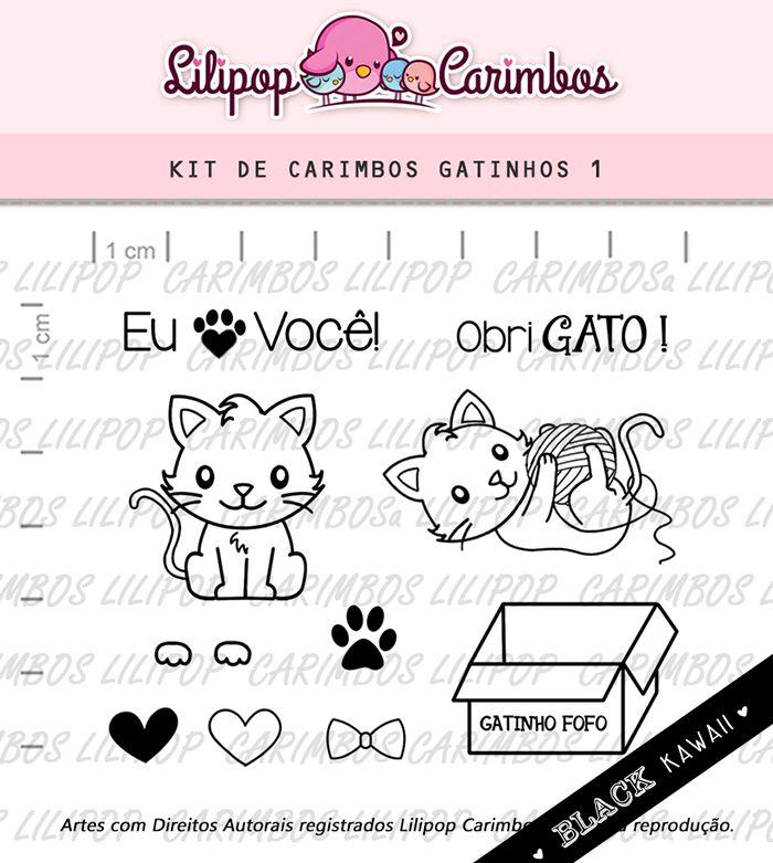 Kit de Carimbos - Gatinhos 1 (LILIPOP CARIMBOS)