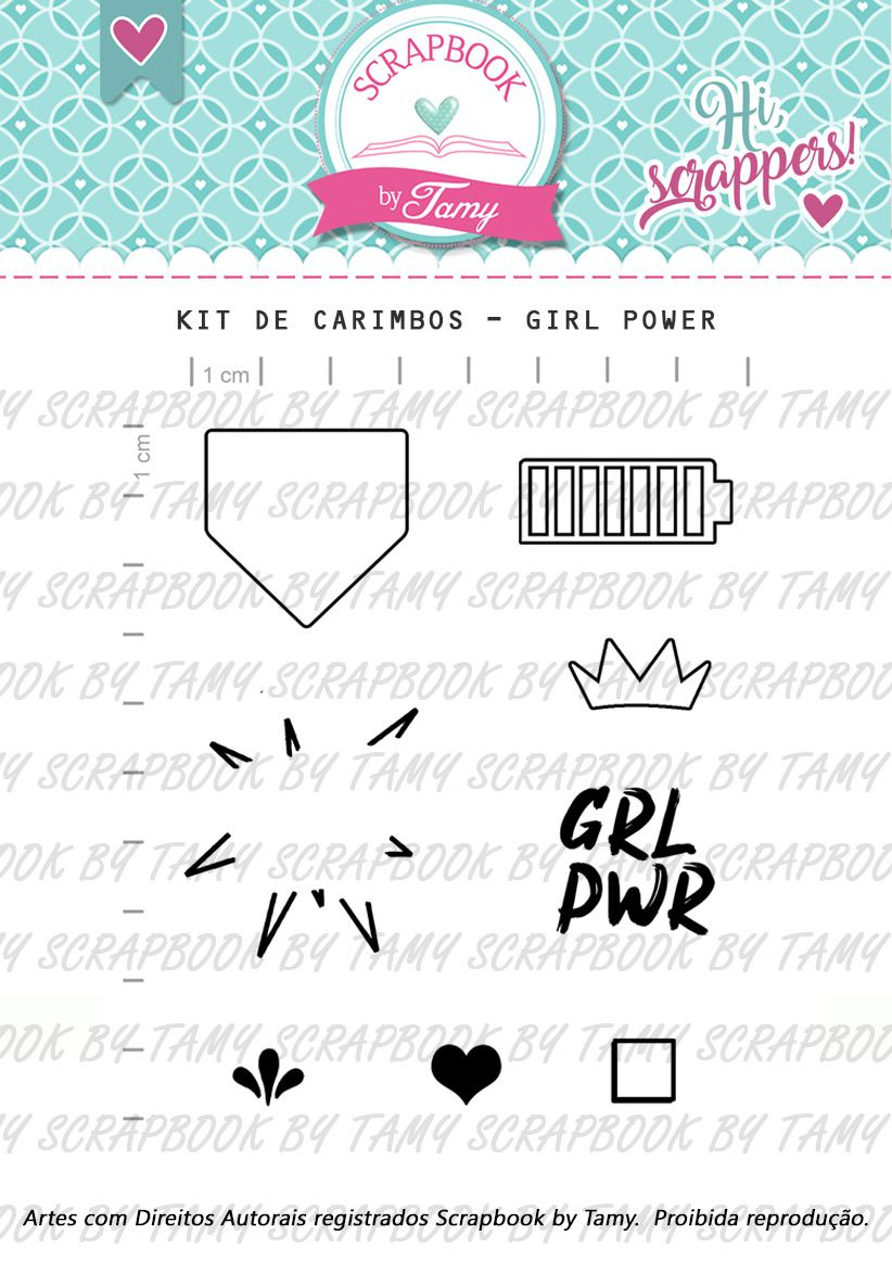 Kit de Carimbos - Girl Power
