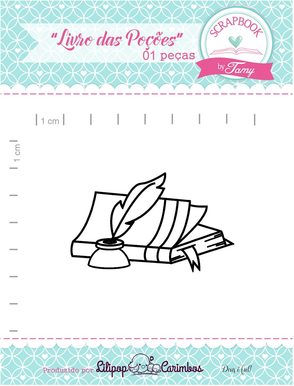 Kit de Carimbos - Livro das Poções - Scrapbook by Tamy