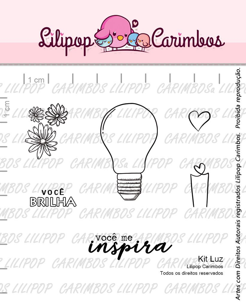 Kit  de Carimbos - Luz (LILIPOP CARIMBOS)