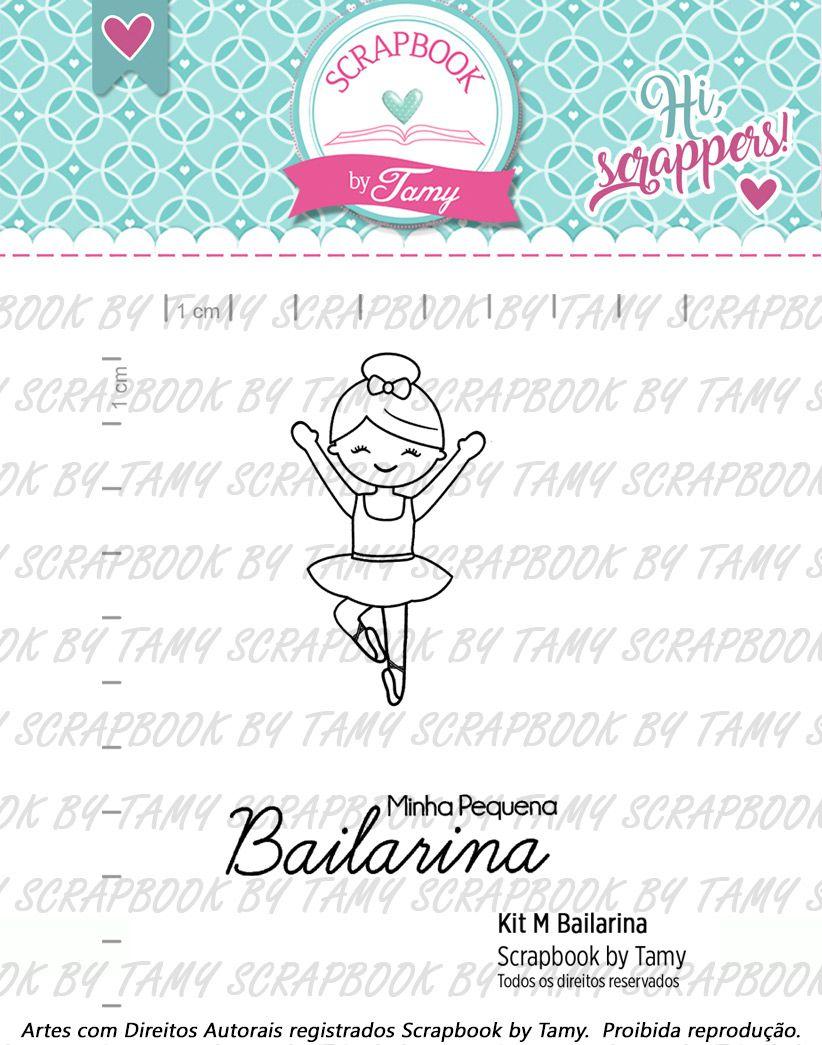Kit de Carimbos M - Bailarina - Scrapbook by Tamy