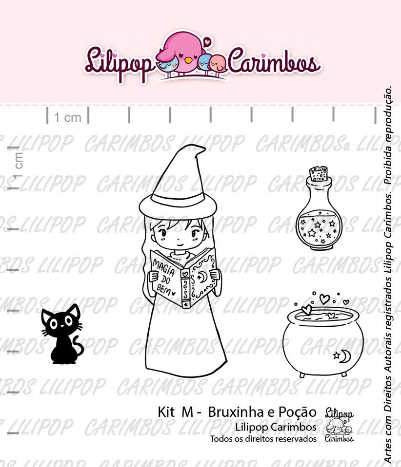 Kit de Carimbos M - Bruxinha e Poção - Lilipop Carimbos