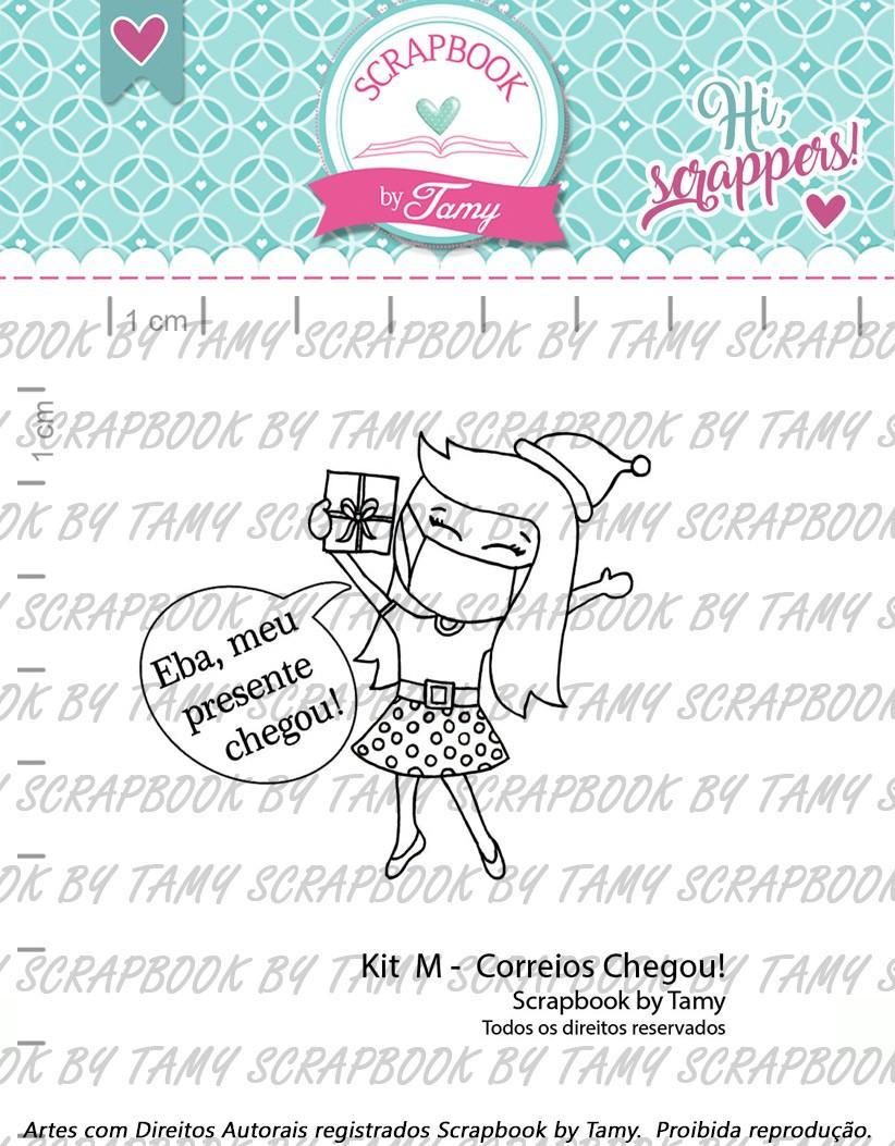 Kit de Carimbos  M - Correios Chegou - Scrapbook by Tamy (Coleção Natal 2020)