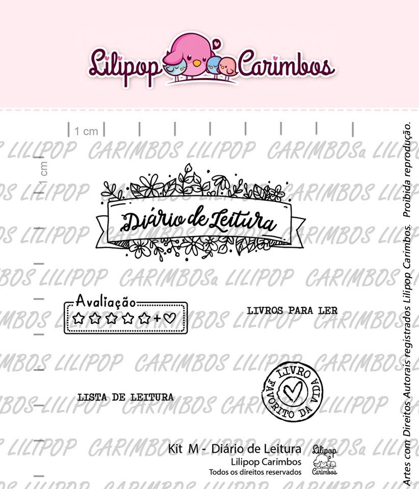Kit de Carimbos M - Diário de Leitura - Lilipop Carimbos