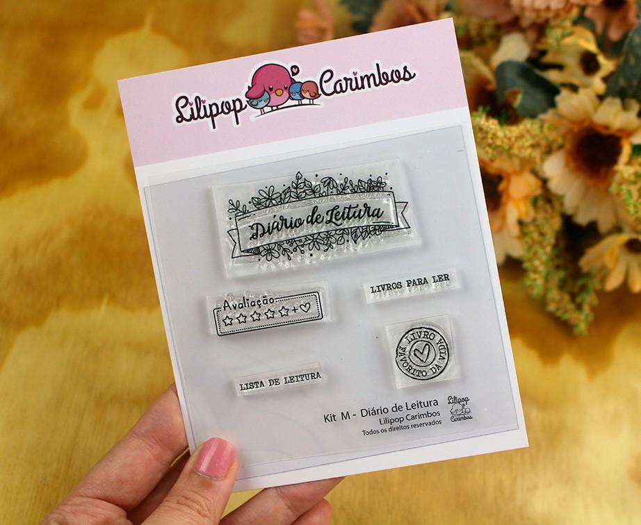 """Cartela de Carimbos M - """"Diário de Leitura"""" - Lilipop Carimbos   - Lilipop carimbos"""