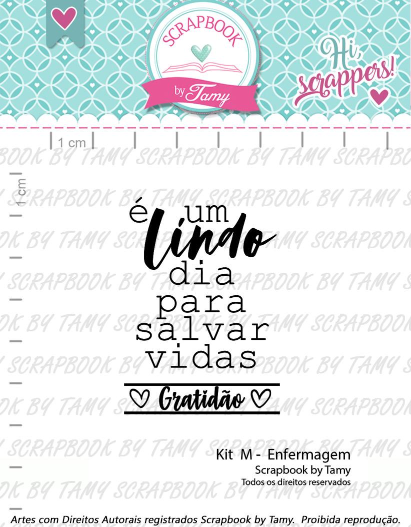 "Cartela de Carimbos M - ""Enfermagem"" - Scrapbook by Tamy  - Lilipop carimbos"