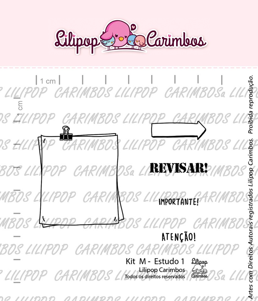 Kit de Carimbos M -  Estudo 1 - Lilipop Carimbos