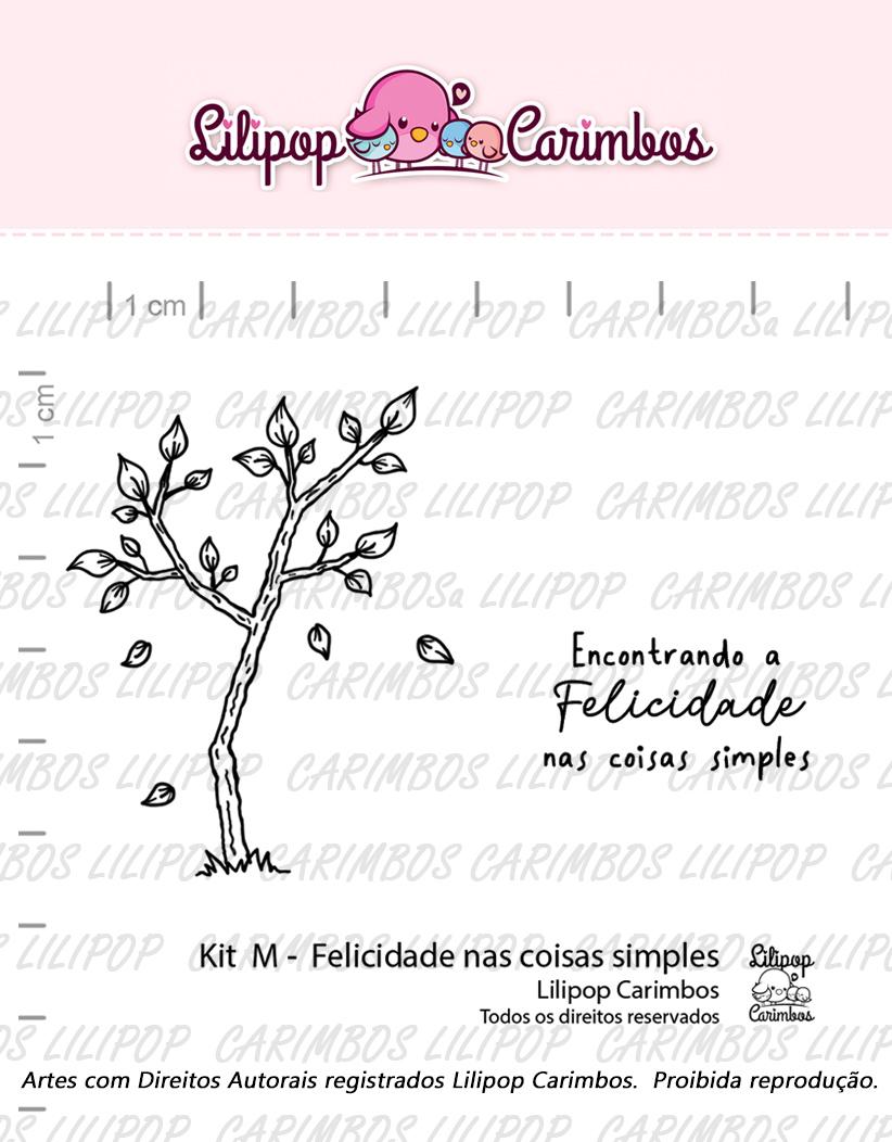 """Cartela de Carimbos M - """"Felicidade nas coisas simples"""" - Lilipop Carimbos   - Lilipop carimbos"""