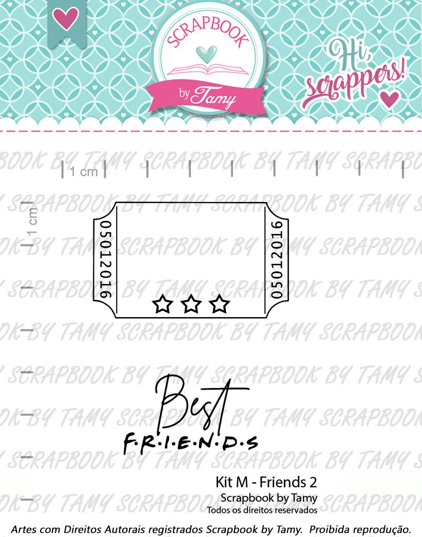 Kit de Carimbos M - Friends 2 - Scrapbook by Tamy